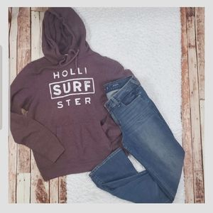 Hollister Low Rise Stretch Classic Boot + Hoodie